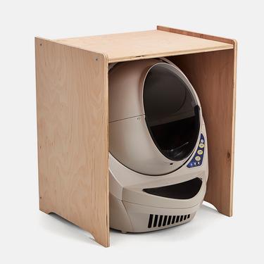Cat Litter Box Furniture Litter Robot 3 Cabinet Birch Bamboo