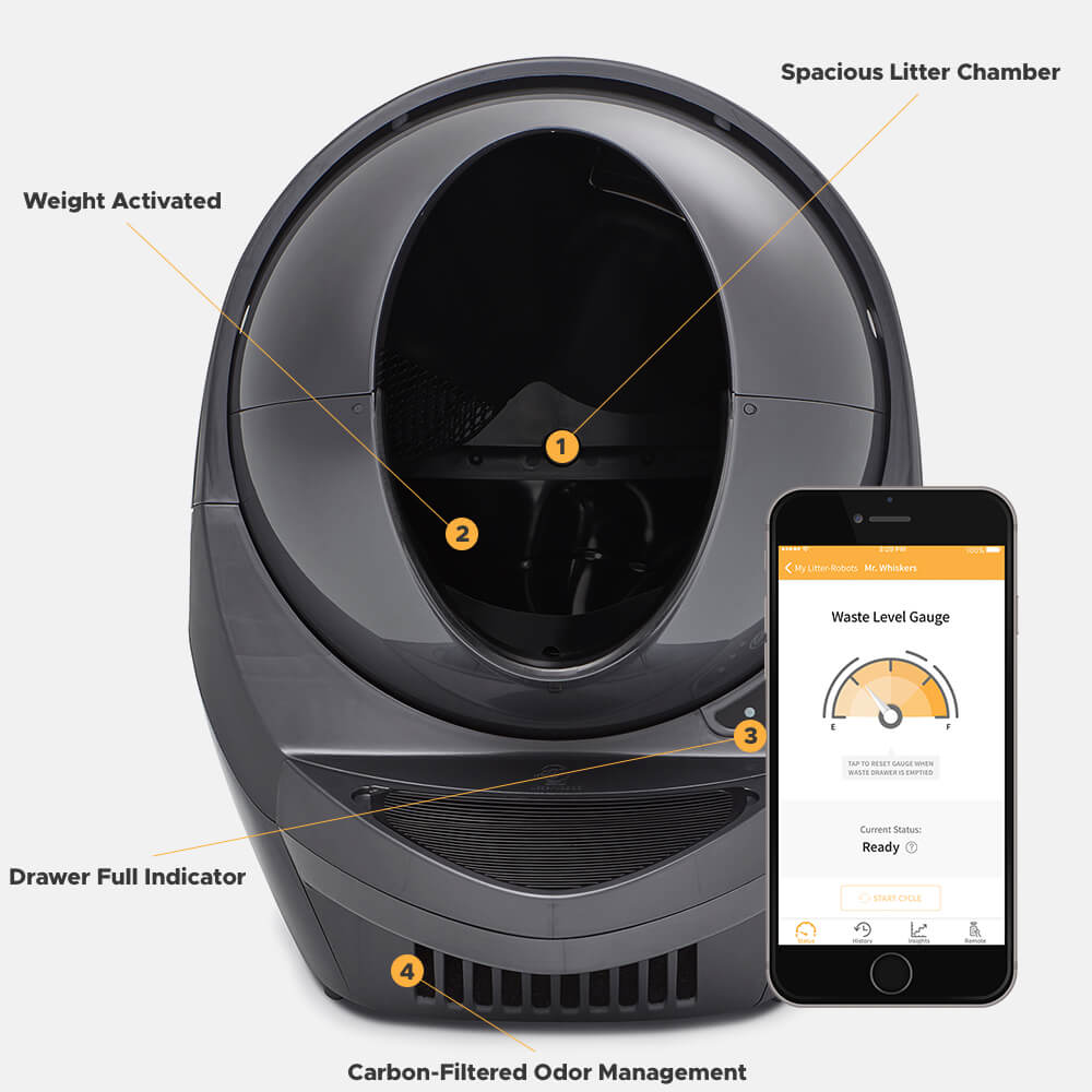 Litter-Robot 3 Connect | Self-Cleaning, WiFi-Enabled Litter Box