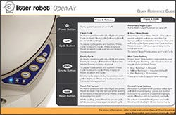 Litter-Robot III Open Air Quick Reference Guide