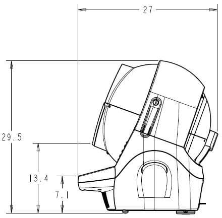 Litter-Robot Open Air Overall Dimensions side view