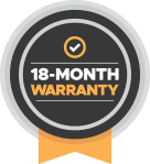 18-Month Warranty badge