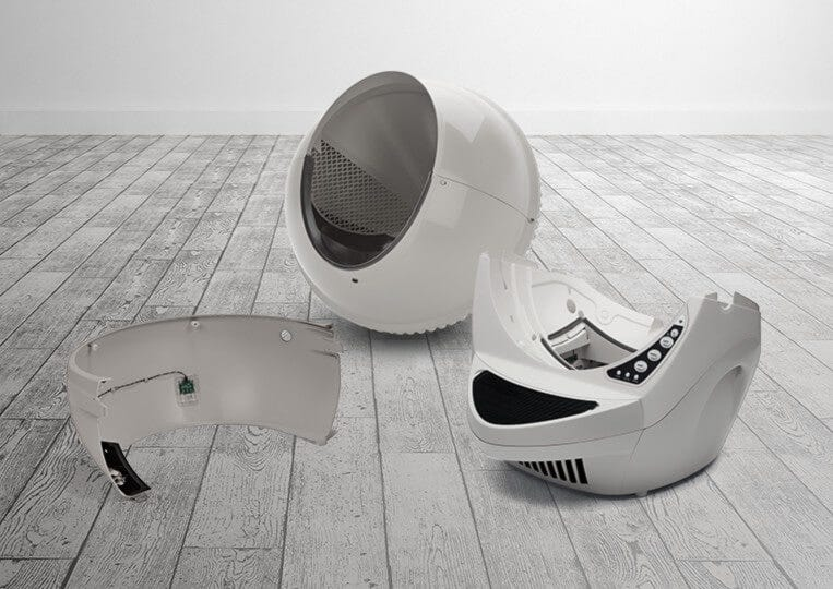 Litter-Robot four-part system is easy to clean
