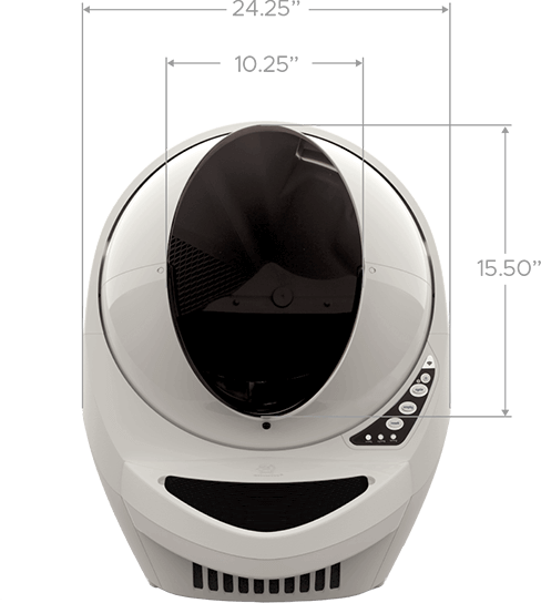 Litter-Robot 3 Connect front tech specs